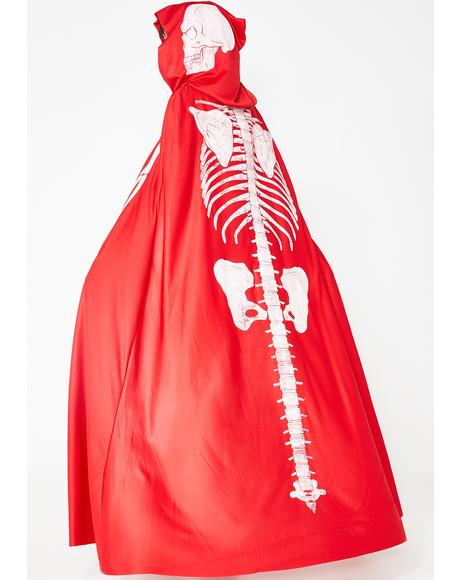 Lit Crypt Keeper Skeleton Cape