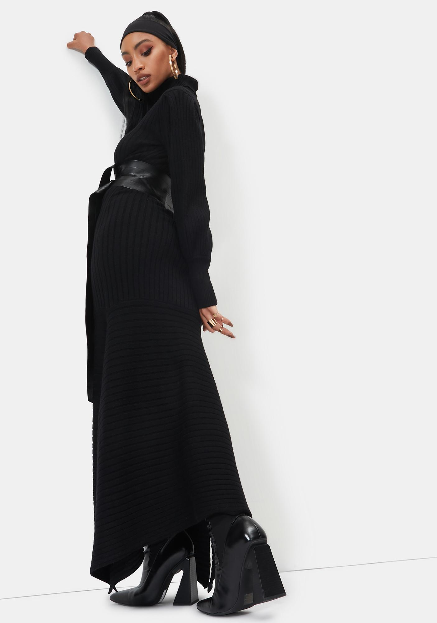 There You'll Be Knit Maxi Dress