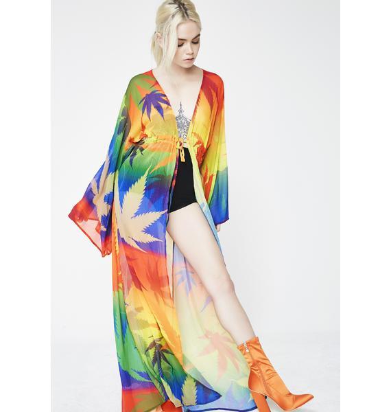 Rainbow Dank Duchess Kimono