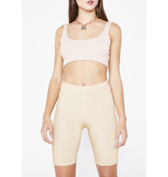 Kiki Riki Golden Sparkle Sparkle Biker Shorts