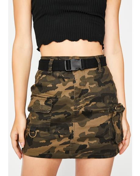 Camo Lookin' For Me Cargo Skirt