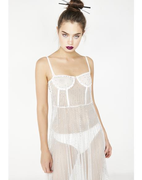 Purely Yours Rhinestone Maxi Dress