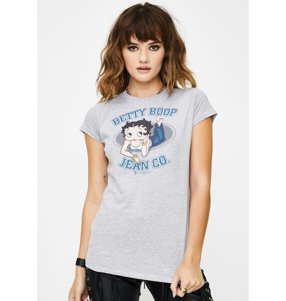 Trevco Betty Boop Jean Co Juniors Graphic Tee