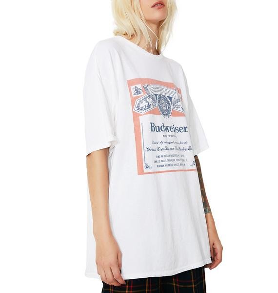 Junk Food Clothing Budweiser Label Graphic Tee