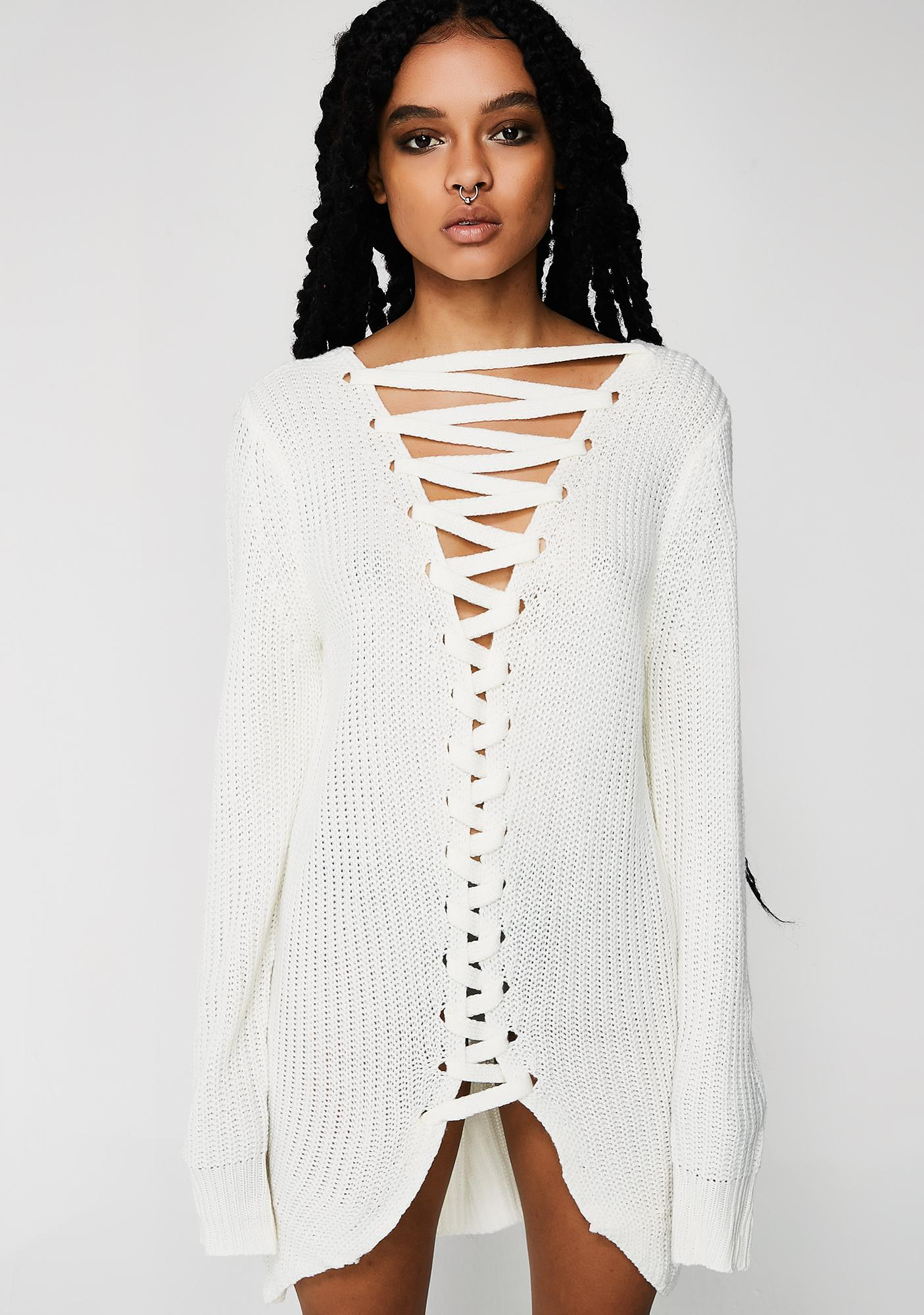 Play Date Lace-Up Sweater