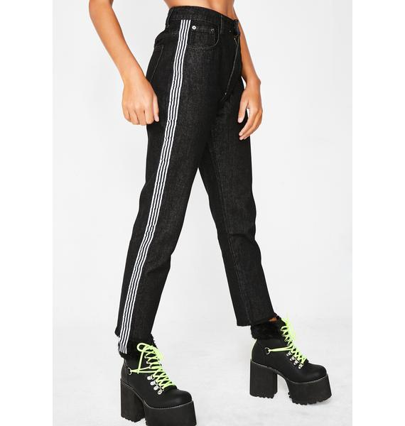 Momokrom Side Stripe Jeans