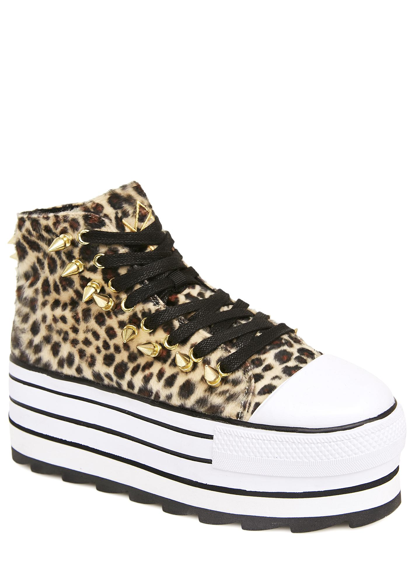 Y.R.U. Elevation Leopard Platform Sneakers