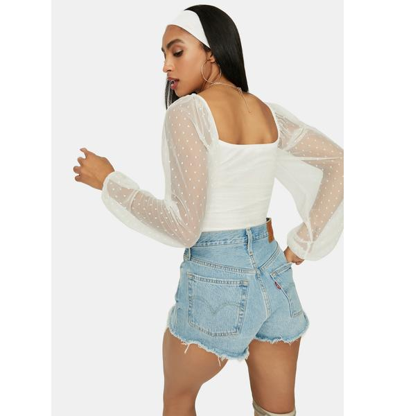 It's My Delight Ruched Crop Top