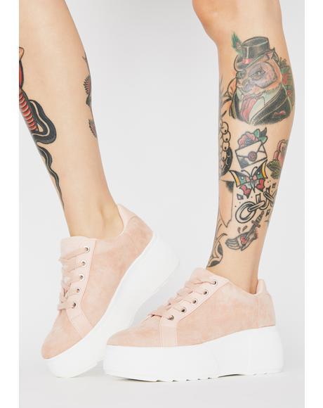 Blush Bree Platform Sneakers