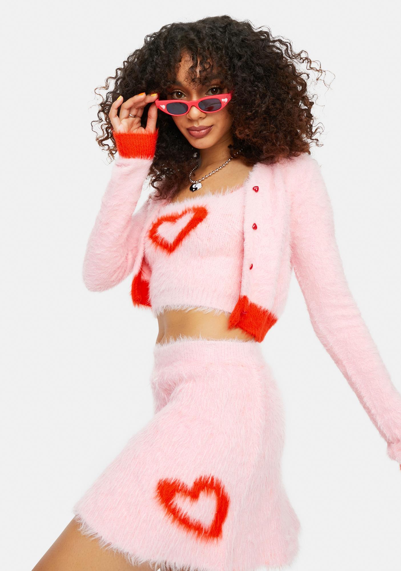 dELiA*s by Dolls Kill At The Love Shack Heart Sweater Set