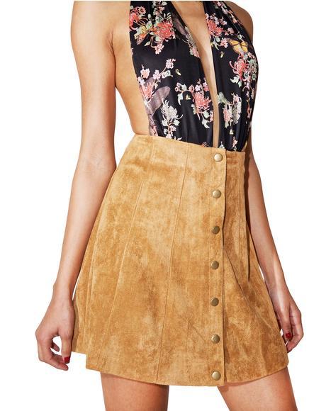 Satisfaction Suede Skirt