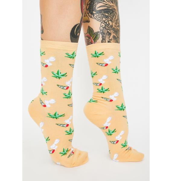 Yellow Owl Workshop Weed Crew Socks