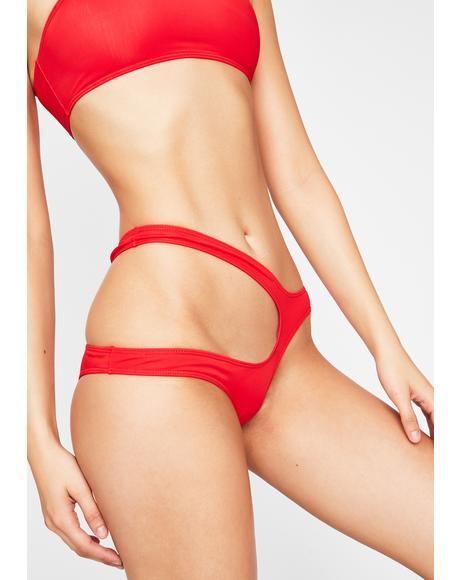 Red Freya Bikini Bottoms