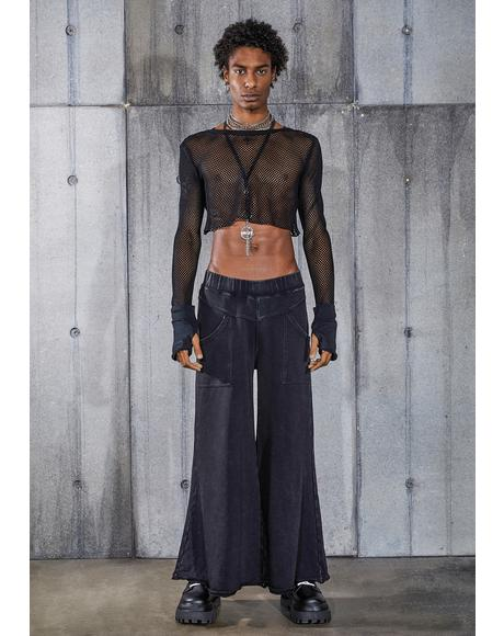 Snare Washed Black Wide Leg Pants