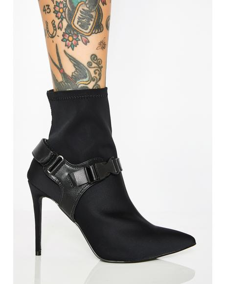 Combat Disorder Heeled Booties
