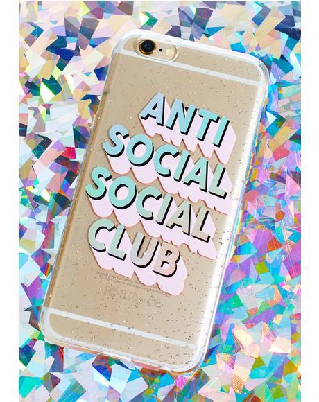Anti Social Club iPhone Case