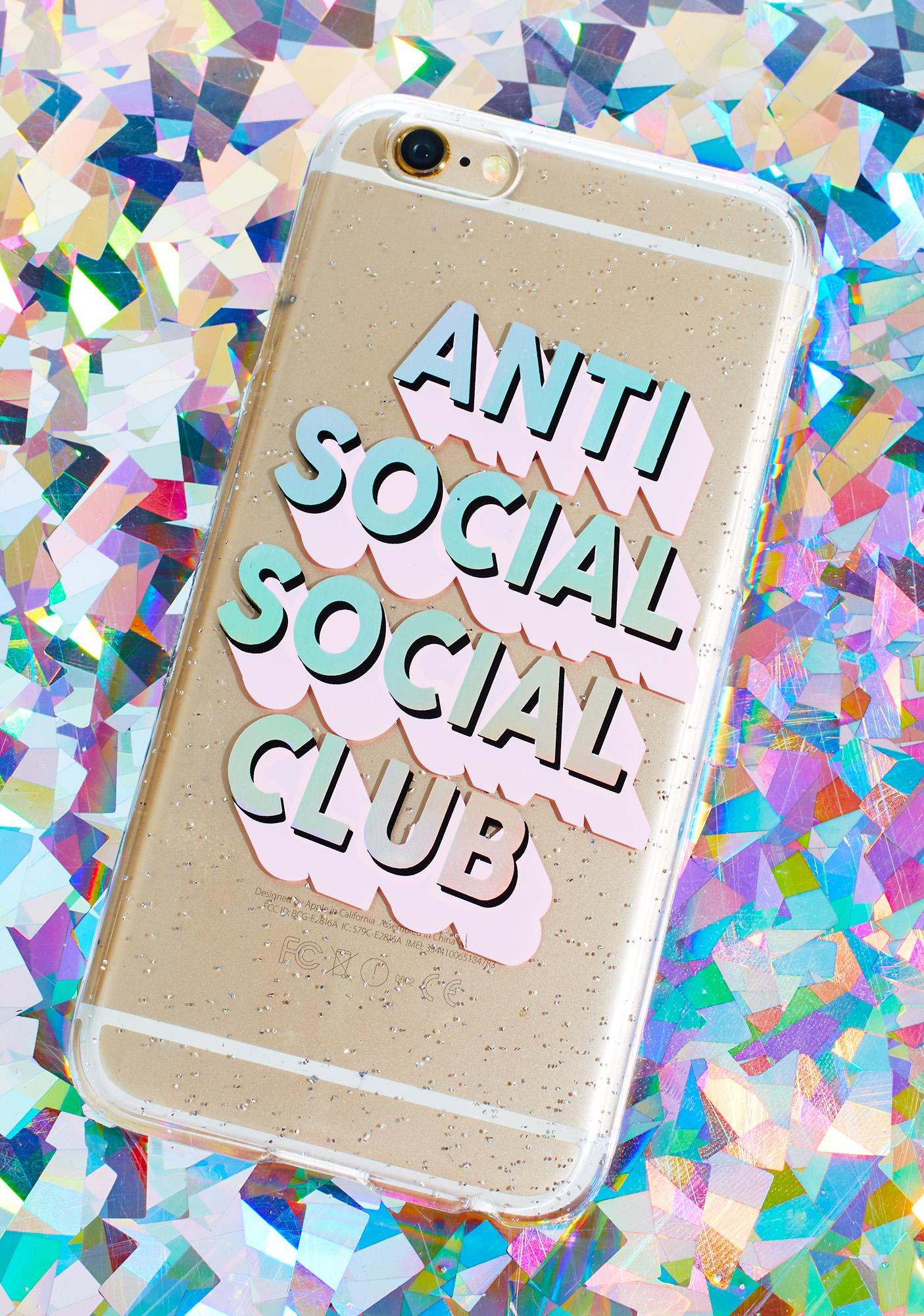 Skinnydip Anti Social Club iPhone Case