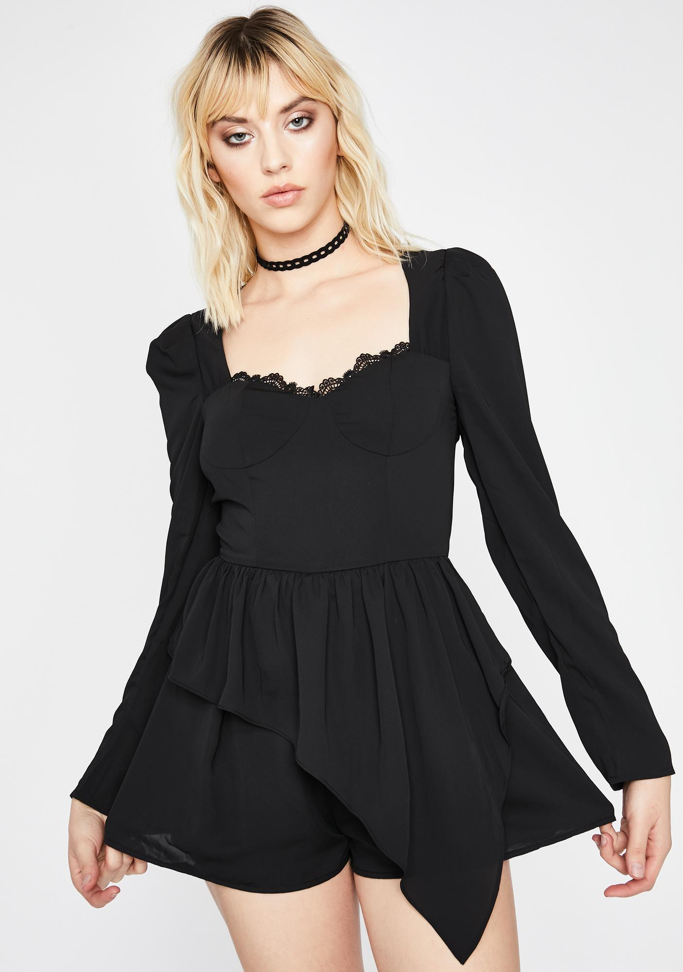 Agree To Disagree Lace Romper