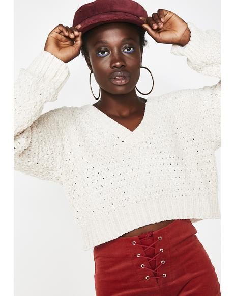 Sass Season Crop Sweater