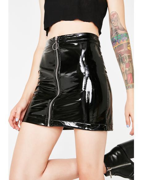 Street Smarts Vinyl Skirt