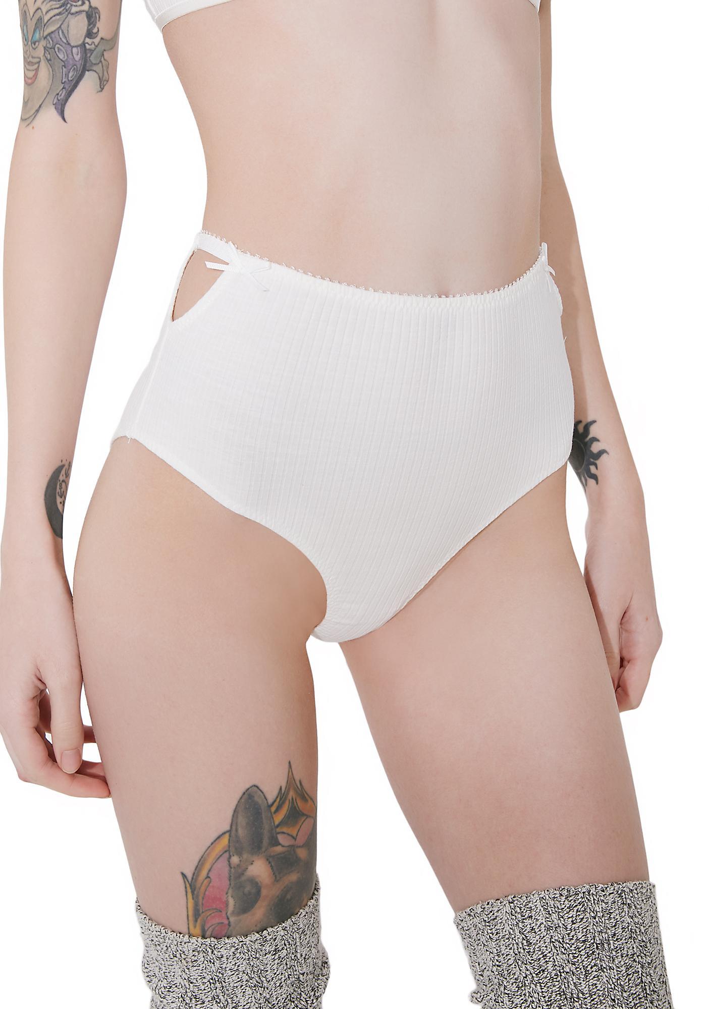 Cream Take A Peek High Rise Panty