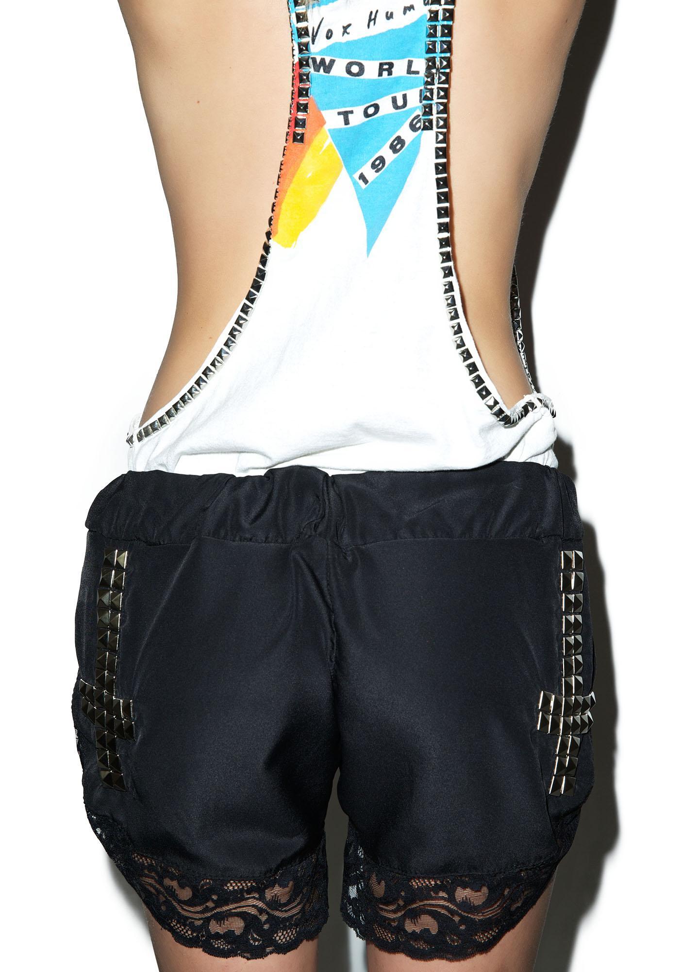Hazmat Design Vintage Deadstock Scarlet Letter Lace Shorts