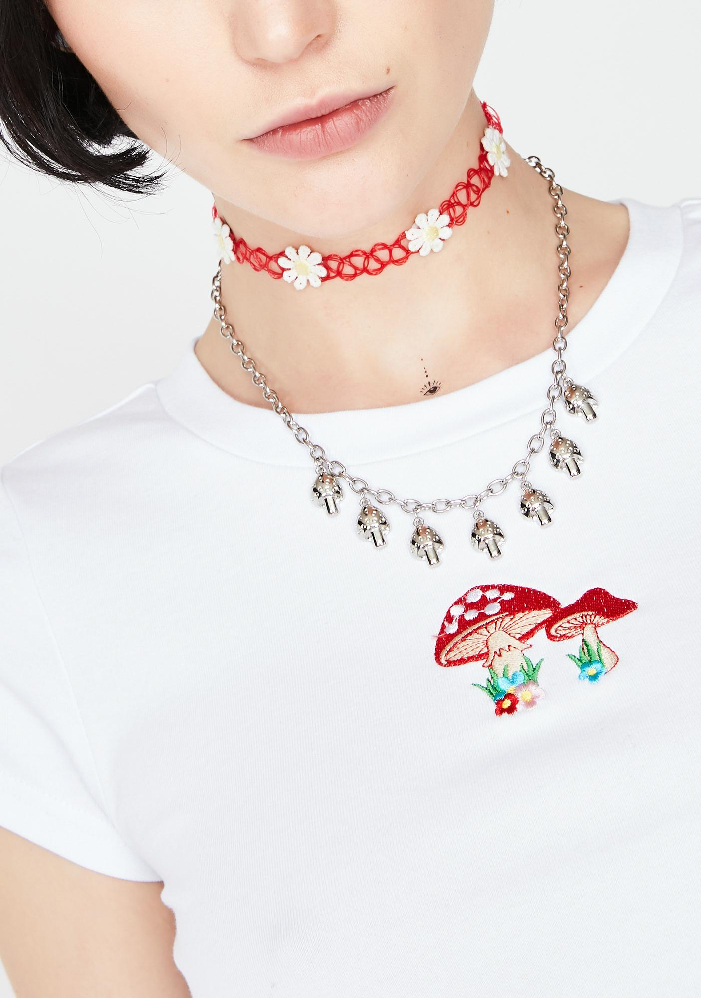 Take A Trip Mushroom Necklace