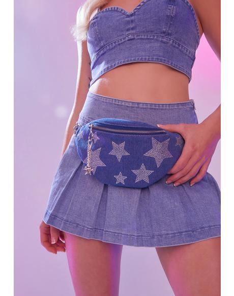 Shoot For The Stars Denim Fanny Pack