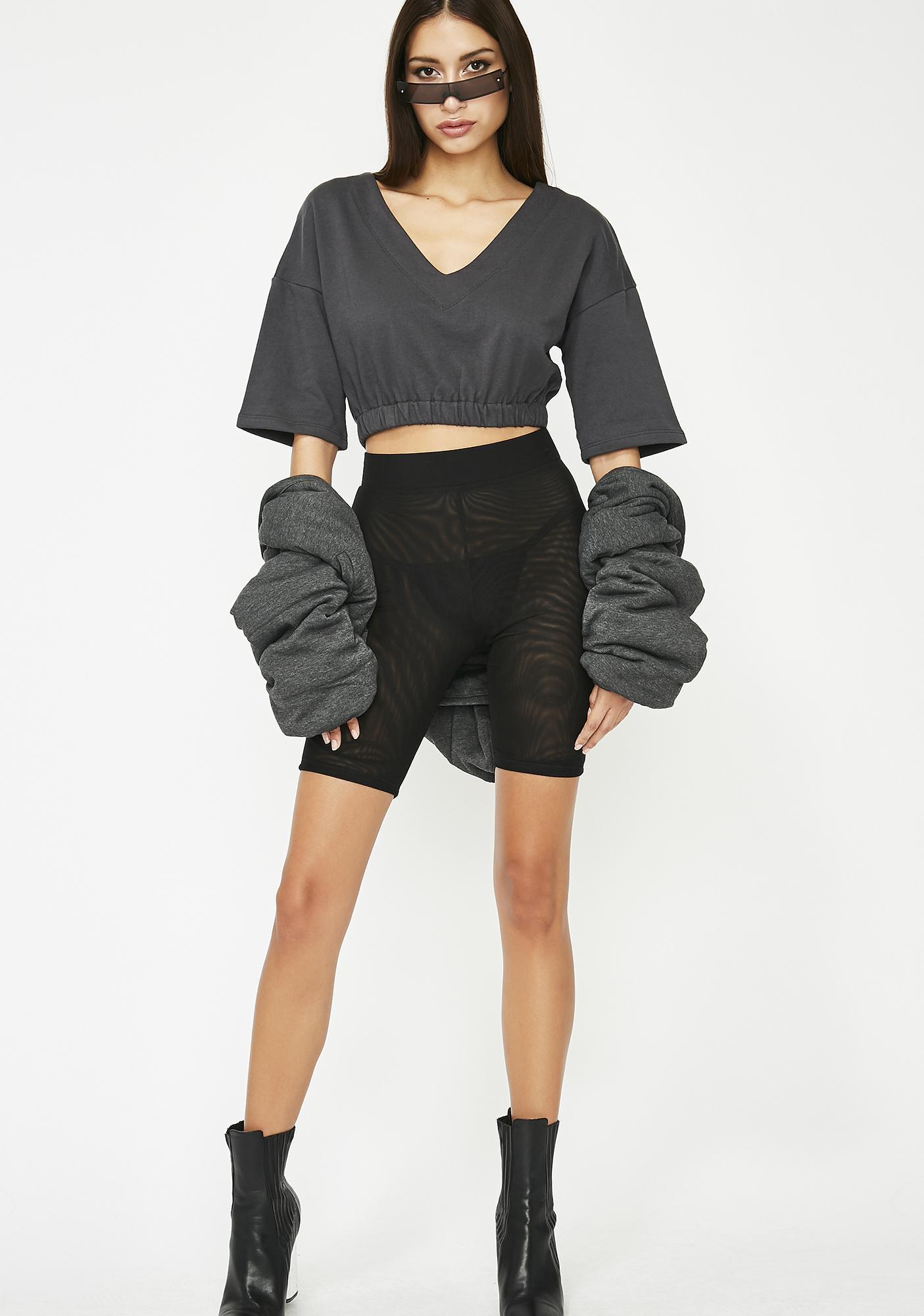 Givin' Chillz Crop Sweatshirt