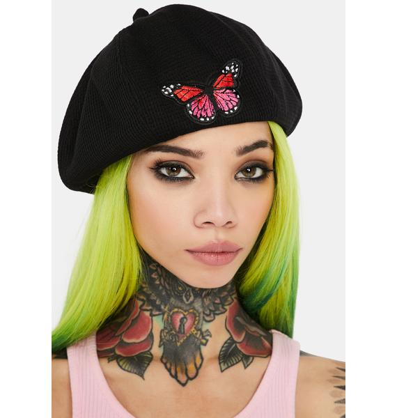 A Lil Flighty Embroidered Beret
