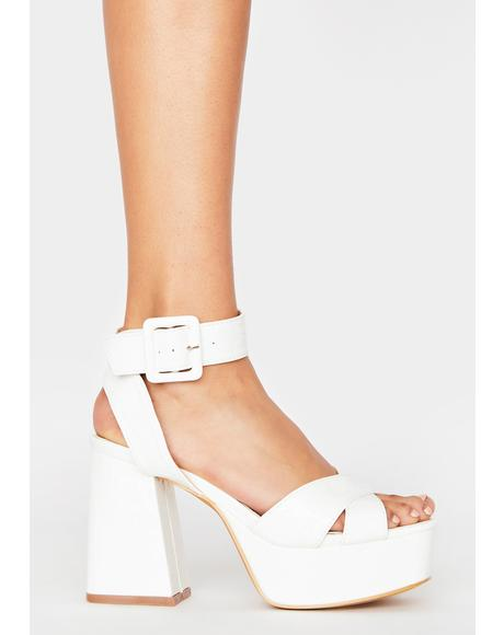 Icy Major Empire Platform Heels