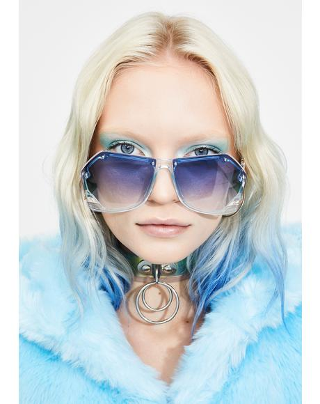 Kween Of Ice Oversized Sunglasses
