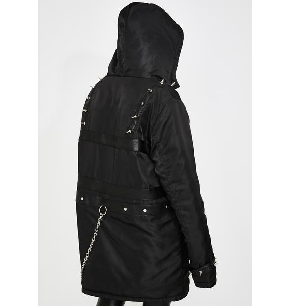 Disturbia Perdita Spike Parka Jacket