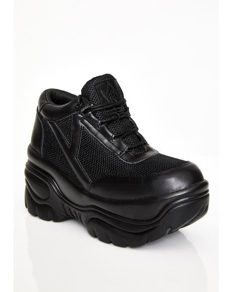 Midnight Matrixx Platform Sneakers