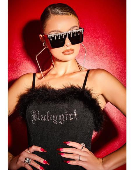 Free Smoke Babygirl Boa Mini Dress