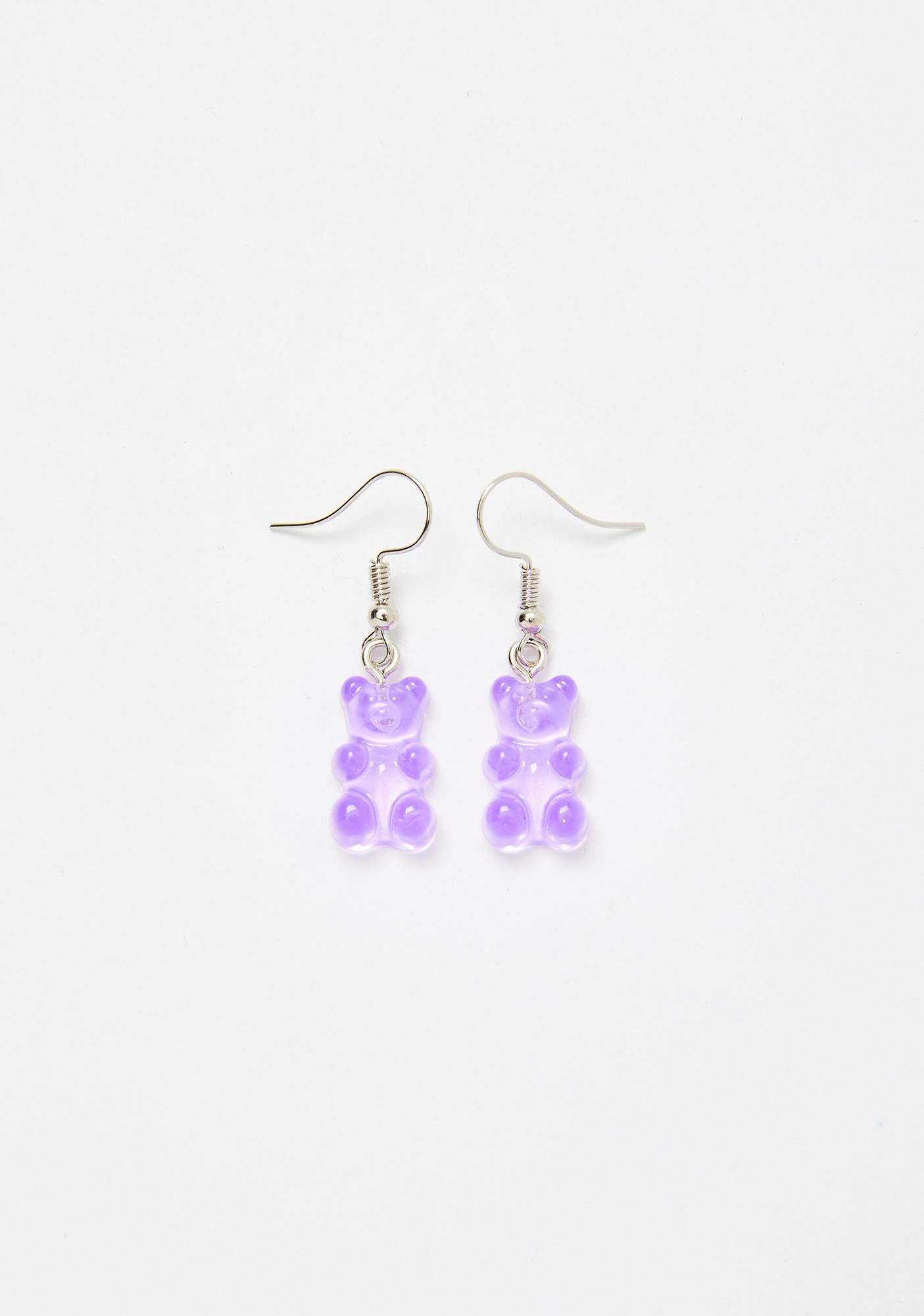 Plum Sugar Forest Gummy Bear Earrings