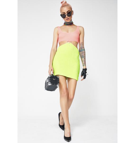 Jaded London Heart Crinkle Mini Dress