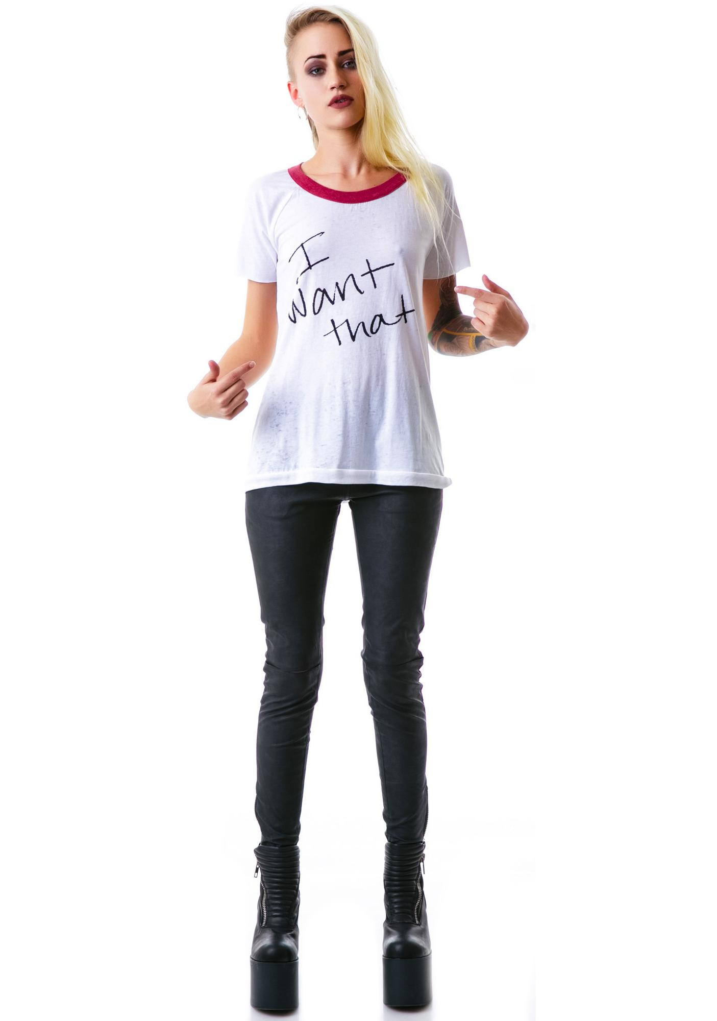 Chaser I Want That Right Now Vintage Jersey Raglan
