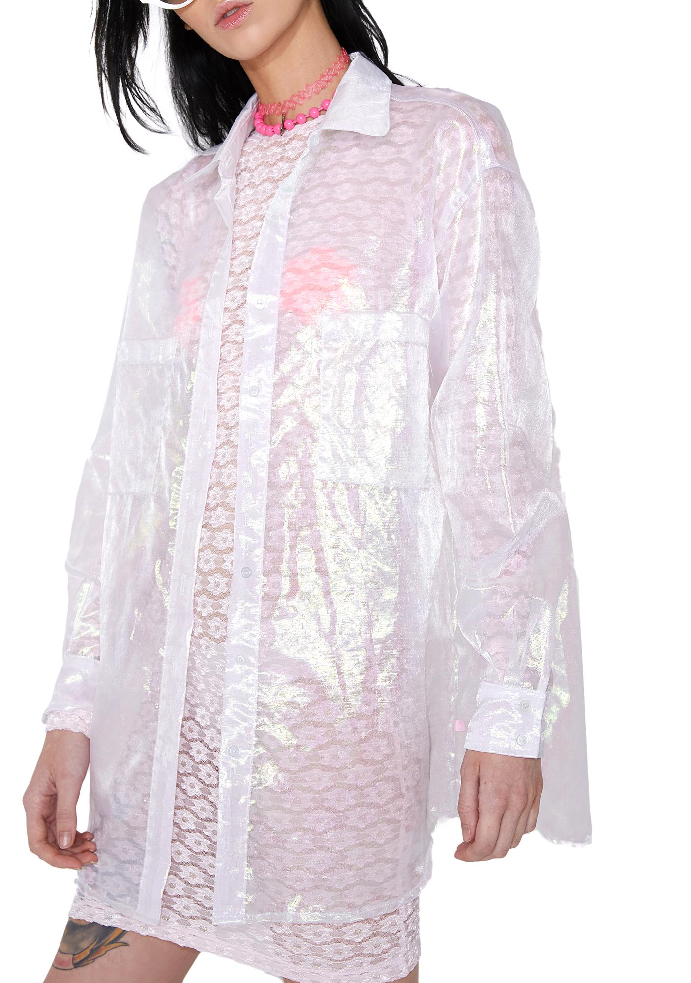 Bunny Holiday Opaline Big Button-Down Top
