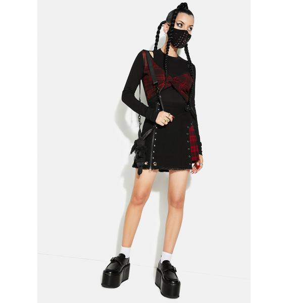 Punk Rave Plaid Two Piece Long Sleeve Shirt