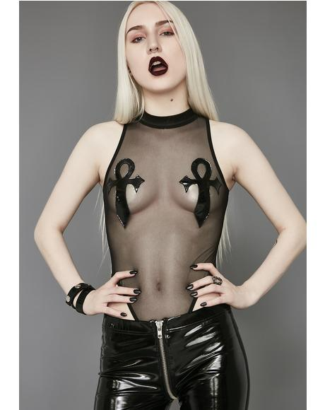 Ankh Fishnet Bodysuit