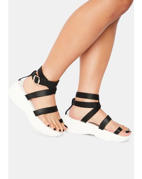 Walk That Walk Platform Gladiator Sandals