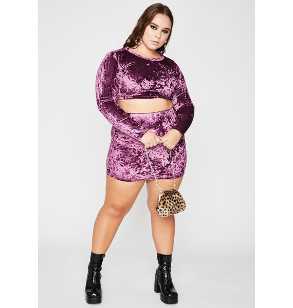 Violet I'll Crush Your Faith Skirt Set