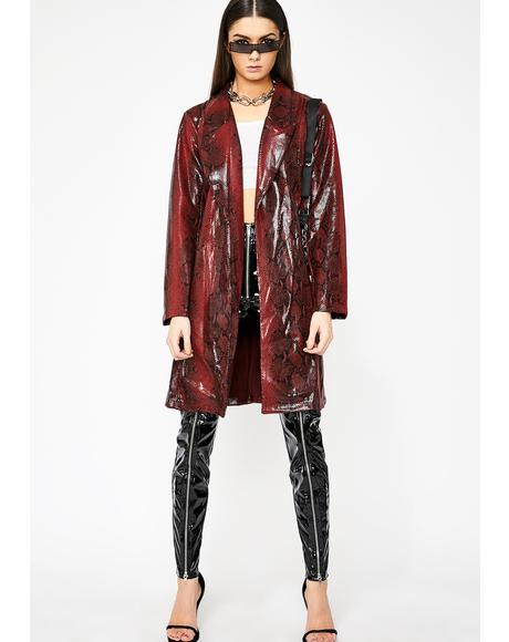 Venomous Vixen Trench Coat