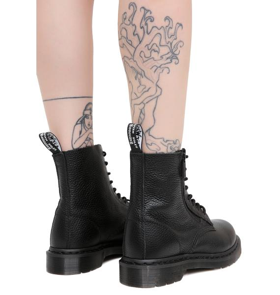 Dr. Martens Black Zip Pascal Boots