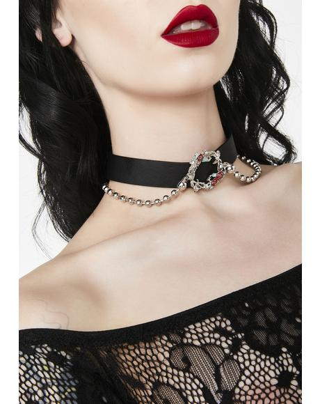Passionate Affair Rose Choker