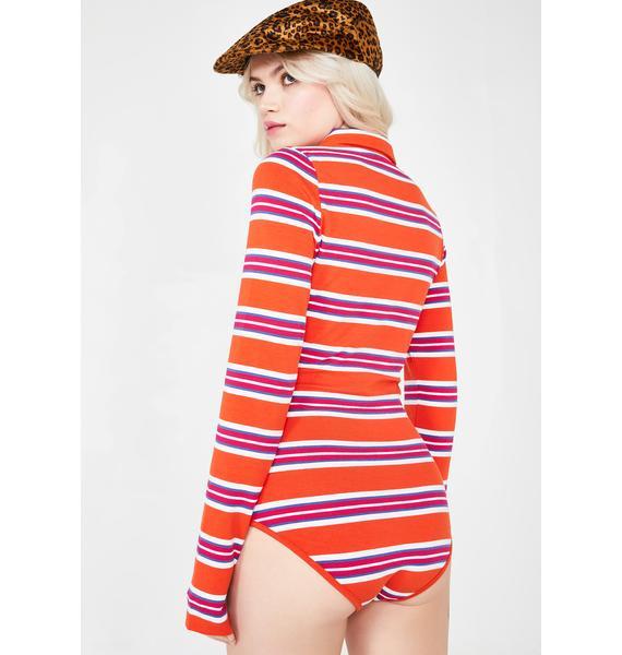 Lazy Oaf Lazy Stripe Bodysuit
