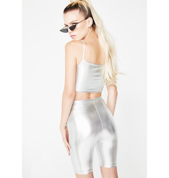 Motel Silver Surfer Cycle Shorts
