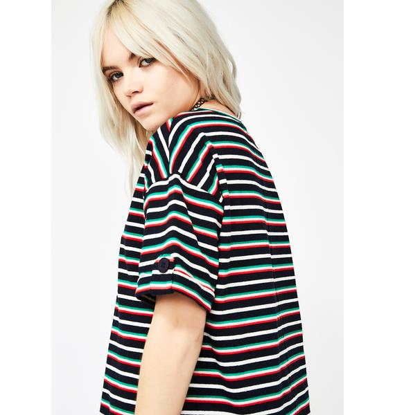 Royally In A Funk Striped Tee