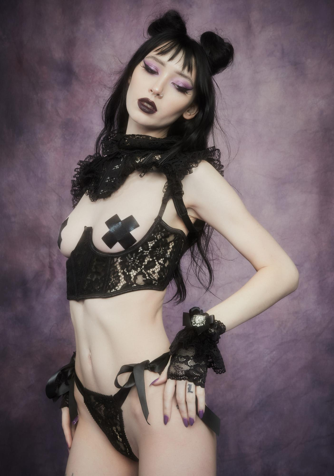 Widow Before Dawn Lace Underbust Corset